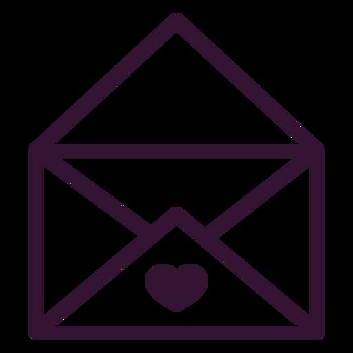 Love letter stroke letter Transparent PNG