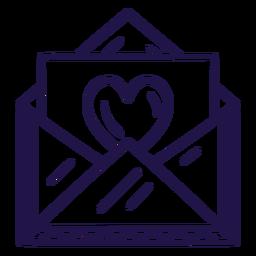 Carta de amor trazo carta trazo