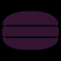 Postre de macarrones negro