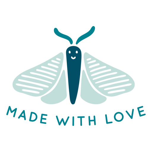 Made with love badge Transparent PNG