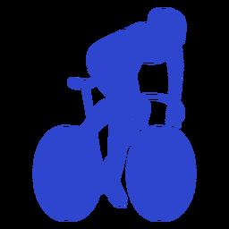 Ciclista masculino azul