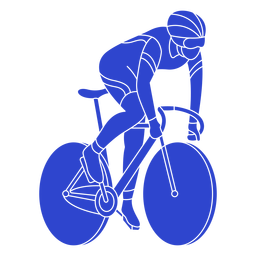 Male cyclist blue