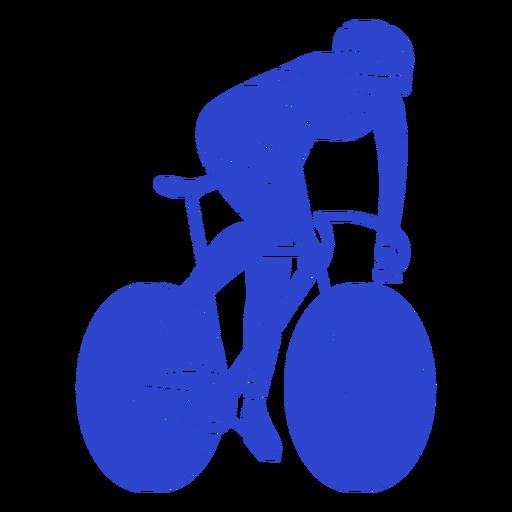 Ciclista hombre azul