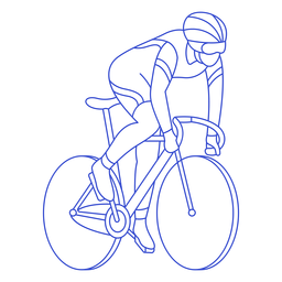 Male cyclist stroke