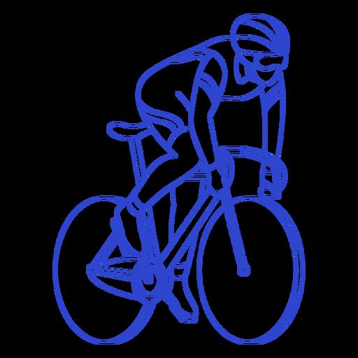 Golpe de ciclista masculino