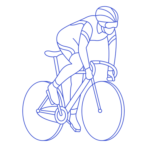 Male cyclist stroke Transparent PNG