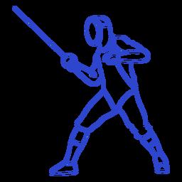 Male fencer stroke