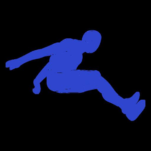 Male long jumper blue