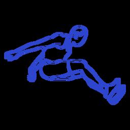 Male long jumper stroke