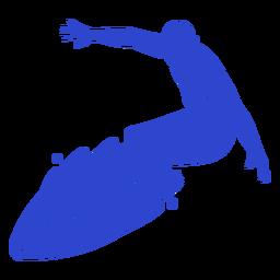Hombre surfista azul