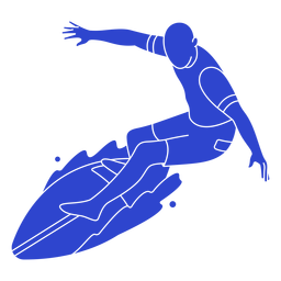Surfista masculino azul