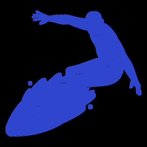 Male surfer blue