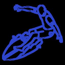 Male surfer stroke