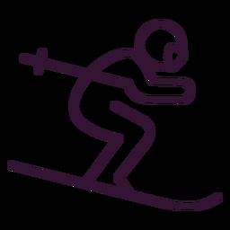 Hombre trazo de esquí