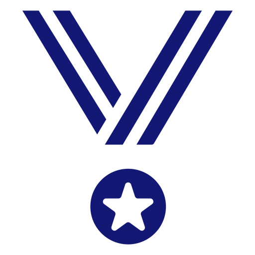Medal of honor icon blue