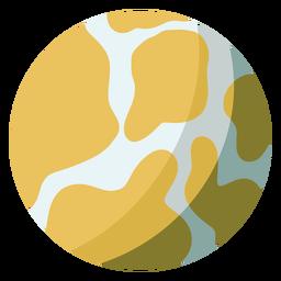 Ilustração do planeta Mercúrio