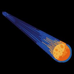 Ilustración en órbita de meteoritos