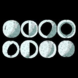 Ilustração das fases da lua