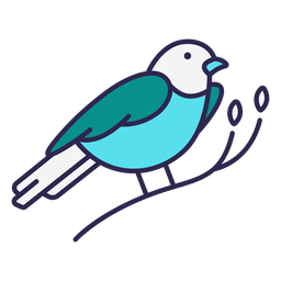 Berg Bluebird Vogel flach
