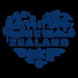 Corazón de nueva zelanda