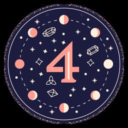 Number 4 magic banner
