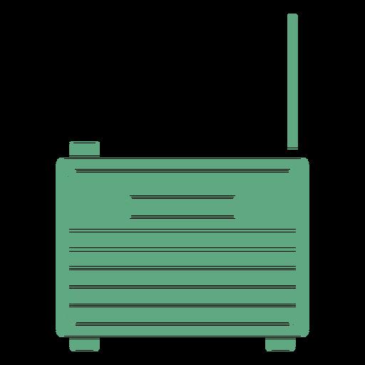 Viejo radio plano verde
