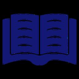 Open book icon blue