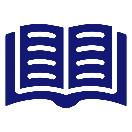 Open book icon blue Transparent PNG