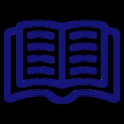 Open book icon stroke