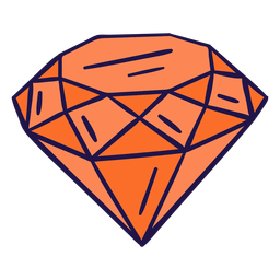 Diamante laranja liso