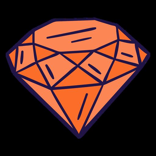 Diamante naranja plano Transparent PNG