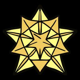 Ilustração de grande estrela de origami