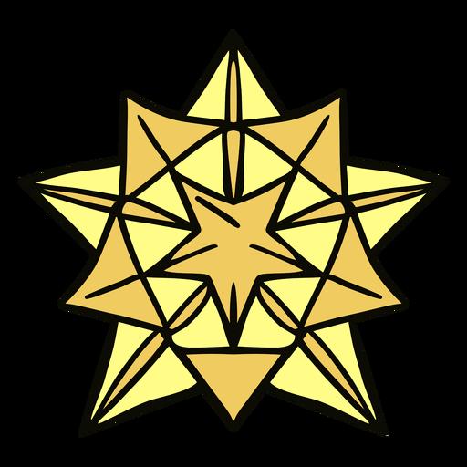 Origami big star illustration