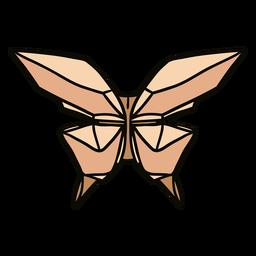 Ilustración de mariposa de origami