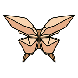 Origami butterfly illustration