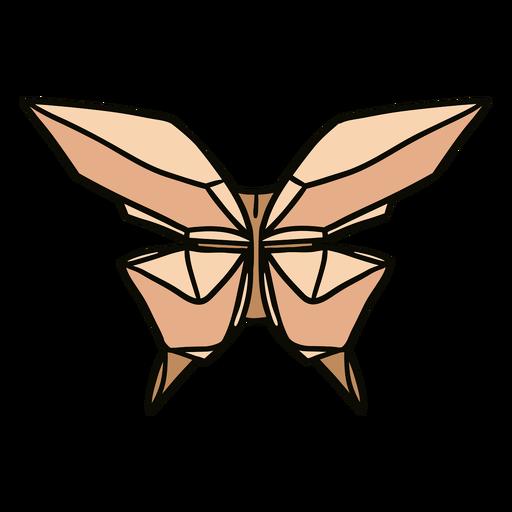 Ilustração de borboleta origami