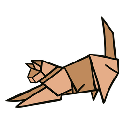 Ilustração de gato de origami