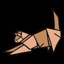 Ilustración de gato de origami