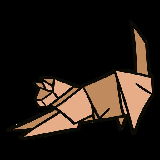 Ilustração de gato origami