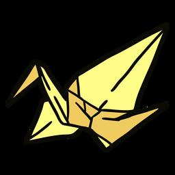 Ilustración de grulla de origami