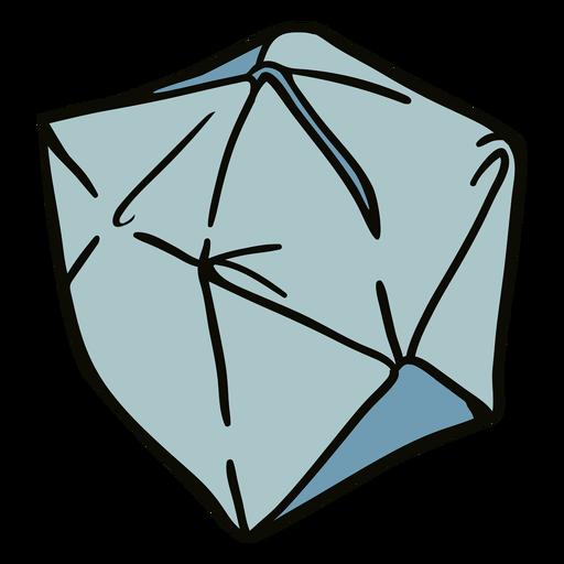 Origami cube illustration