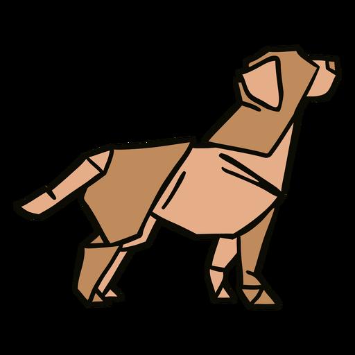 Ilustração de cachorro origami