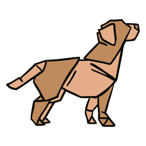 Ilustración de perro de origami