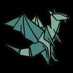 Ilustração de dragão de origami