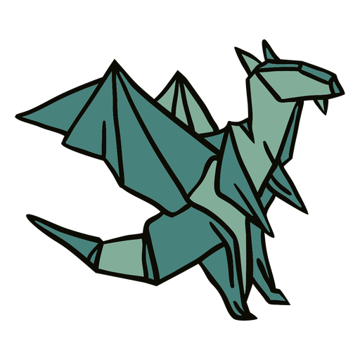 Ilustración de dragón de origami
