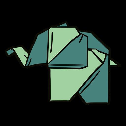 Ilustración de elefante de origami Transparent PNG