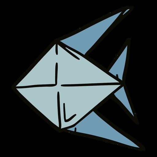 Origami fish illustration