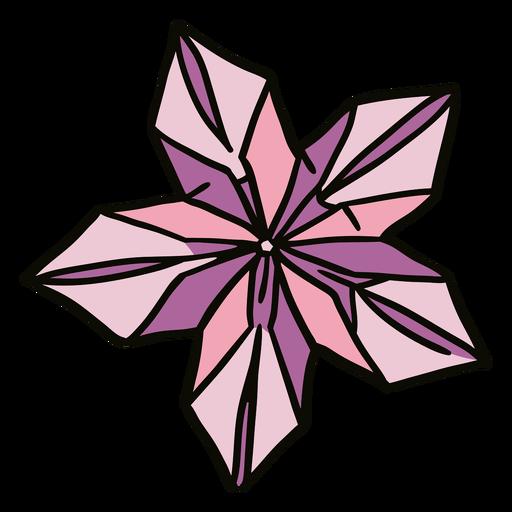 Ilustração de flores de origami