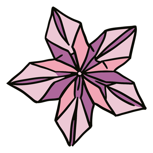Ilustración de flor de origami