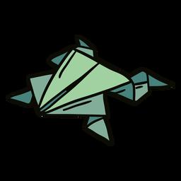 Ilustración de rana de origami